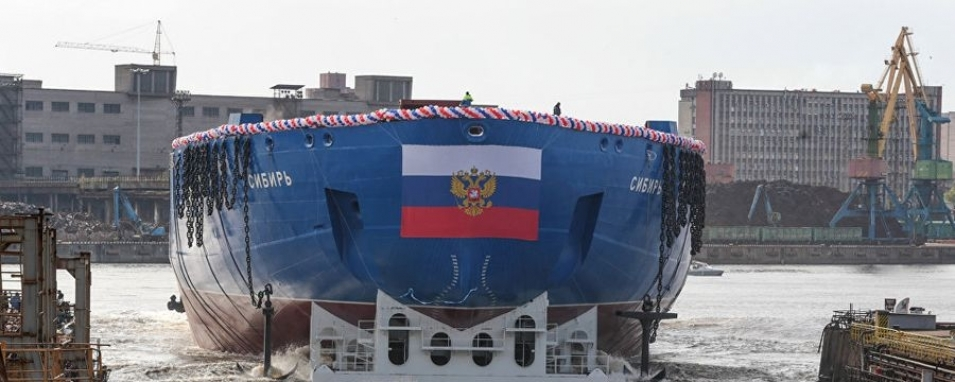 Siberia goes to the Arctic: the most powerful ice breaker in the world was floated