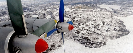 The pilots of the Northern fleet conducted aerial reconnaissance of the Arctic ice field
