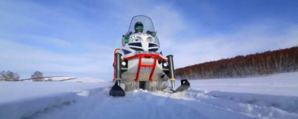 "Arctic 1500: snowmobile with a ""Zhiguli"" engine"